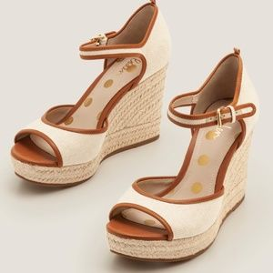 New Boden Philippa Espadrille Wedges - Natural/Tan